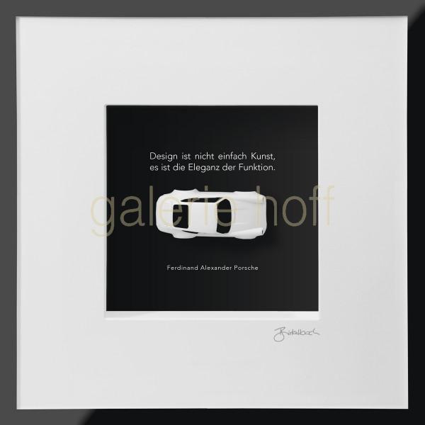 Wortkunst R. Birkelbach - Kunstobjekt Porsche