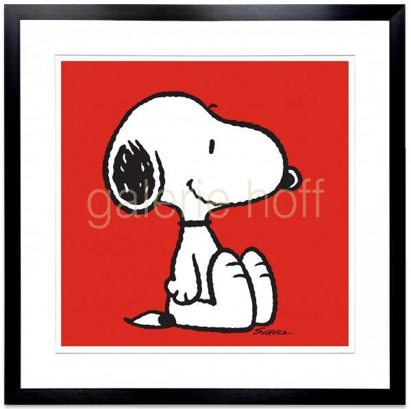 Schulz, Charles M. / Peanuts - Snoopy Red - gerahmt