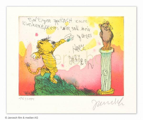 Janosch - Ein Tiger sprach zum kleinen Bären, Dir soll mein ganzes Herz gehören