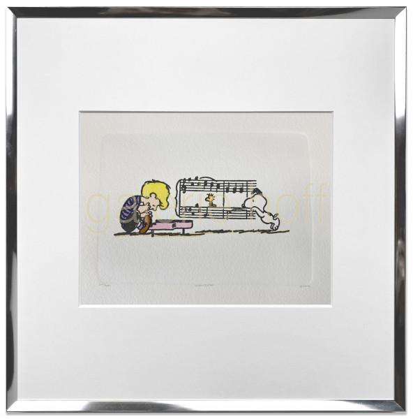 Schulz, Charles M. / Peanuts - Piano - gerahmt