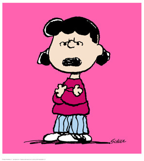 Schulz, Charles M. / Peanuts - Lucy pink