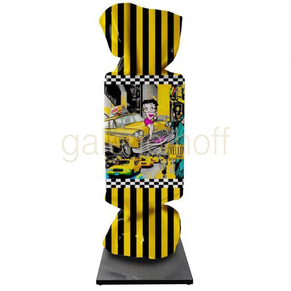 Michael Daniels - Candy Yellow Cab - Skulptur
