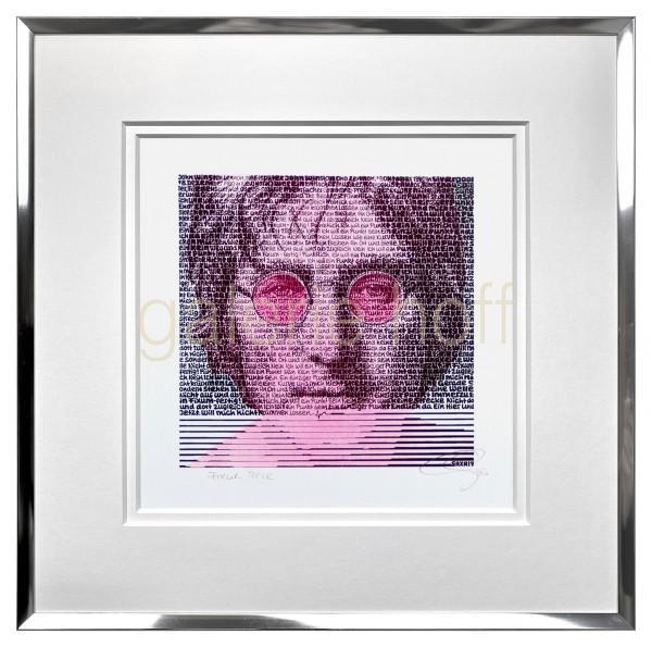 SAXA - John Lennon pink - gerahmt