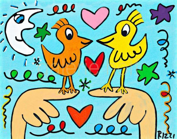 Rizzi, James - Love those love birds - gerahmt
