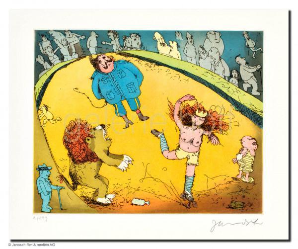 Janosch - Der Löwe brüllt, es tanzt Marie, das Publikum sitzt vis-á-vis
