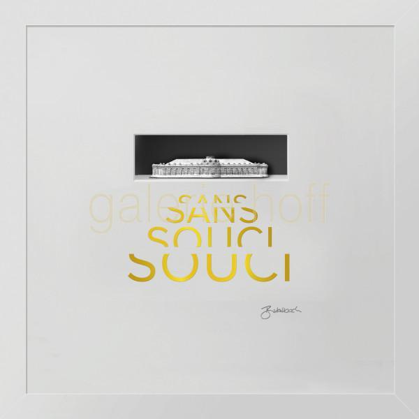 Wortkunst R. Birkelbach - Sanssouci - anthrazit / gold