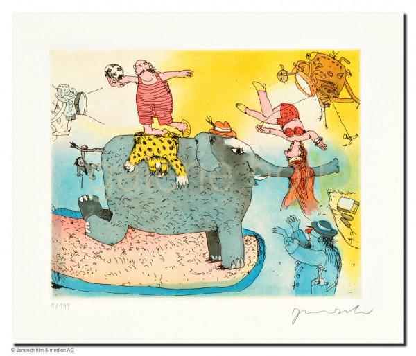 Janosch - Der Elefant steht hier im Licht, doch seinen Kummer sieht man nicht