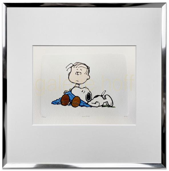 Schulz, Charles M. / Peanuts - Blanket - gerahmt