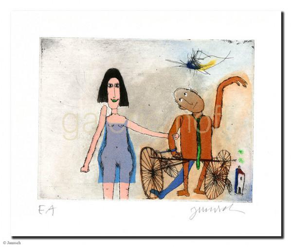 Janosch - Ich und mein Mann Manni Manngold mit seinem Rad