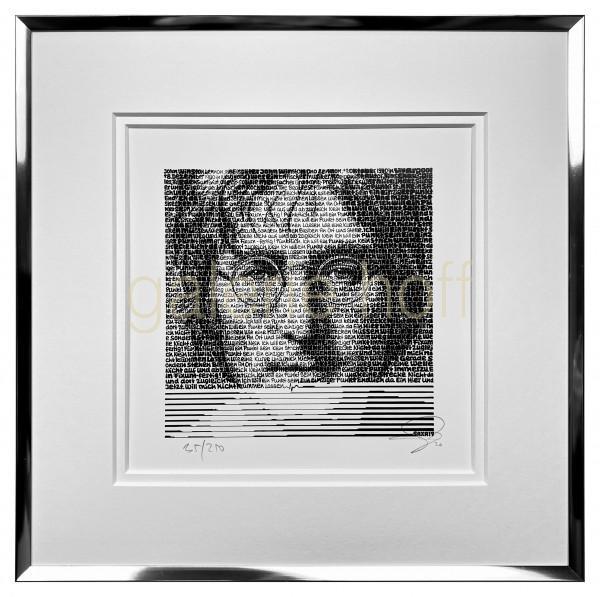 SAXA - John Lennon - gerahmt