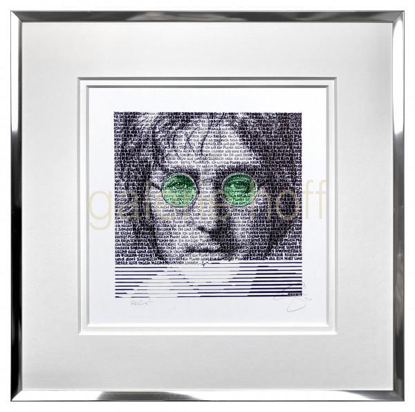 SAXA - John Lennon grün - gerahmt