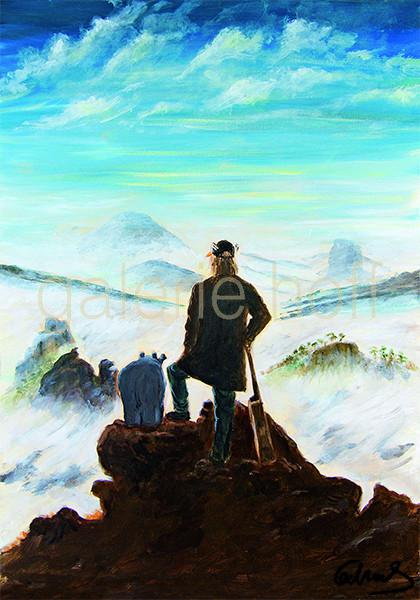 Waalkes, Otto - Zwei Wanderer über dem Nebelmeer