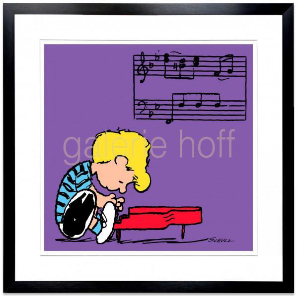 Schulz, Charles M. / Peanuts - Schroeder Purple - gerahmt