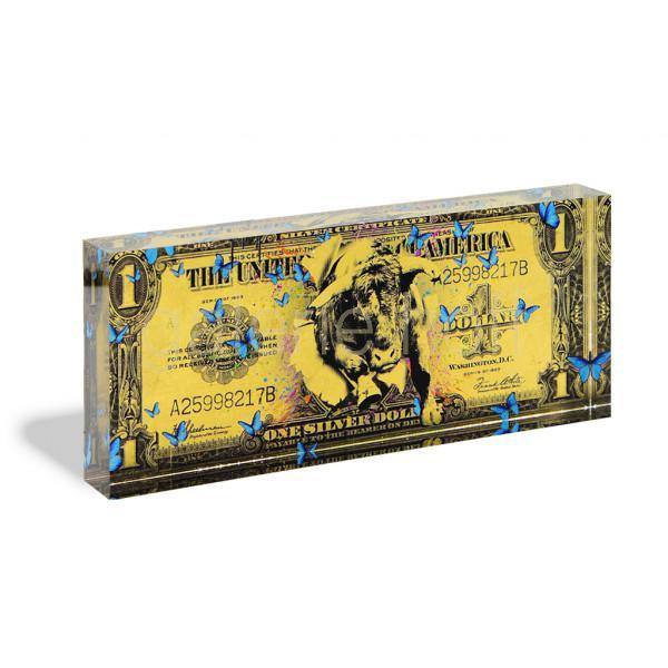 Miles, Devin - One Dollar gold - Acrylblock