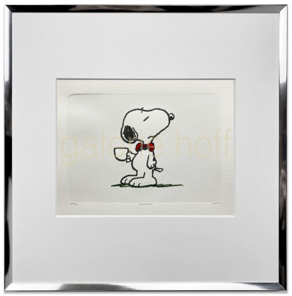 Schulz, Charles M. / Peanuts - A nice cuppa - gerahmt