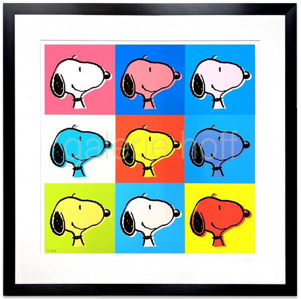 Schulz, Charles M. / Peanuts - Snoopy Goes Pop - gerahmt