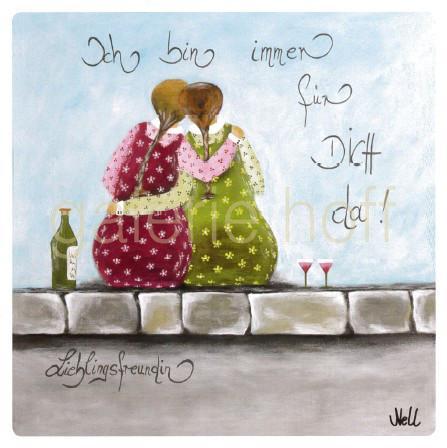 Nell - Ich bin immer für Dich da! Lieblingsfreundin gerahmt